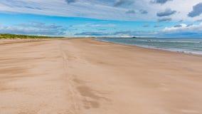 Η παραλία στις άμμους του Ross, Αγγλία, UK στοκ φωτογραφία με δικαίωμα ελεύθερης χρήσης