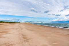 Η παραλία στις άμμους του Ross, Αγγλία, UK στοκ εικόνες