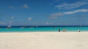 Η παραλία στο nungwi στο Βορρά Zanzibar στοκ φωτογραφίες με δικαίωμα ελεύθερης χρήσης