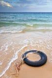 η παραλία το ελαστικό αυ&t Στοκ Εικόνες