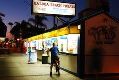Η παραλία Baslboa μεταχειρίζεται, Newport Beach Στοκ φωτογραφία με δικαίωμα ελεύθερης χρήσης