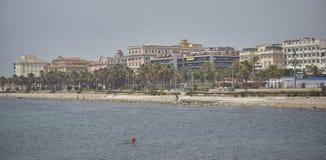 Η παραλία Civitavecchia στοκ εικόνες