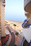 Η παραλία Βικτώριας στο ηλιοβασίλεμα, Κόστα ντε λα Λουθ, Καντίζ, Ανδαλουσία, Ισπανία στοκ φωτογραφίες με δικαίωμα ελεύθερης χρήσης