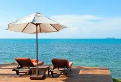 η παραλία προεδρεύει κο&nu Στοκ Εικόνα