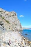 Η παραλία σε Sudak Στοκ εικόνες με δικαίωμα ελεύθερης χρήσης