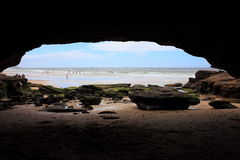 Παραλία σπηλιών στοκ φωτογραφίες με δικαίωμα ελεύθερης χρήσης