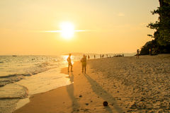 Η παραλία στην Ταϊλάνδη Στοκ εικόνα με δικαίωμα ελεύθερης χρήσης
