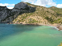 Η παραλία του διάσημου βασιλιά στην Κριμαία Στοκ εικόνα με δικαίωμα ελεύθερης χρήσης