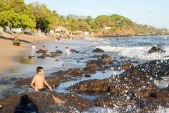 Η παραλία του Los Cobanos Στοκ φωτογραφίες με δικαίωμα ελεύθερης χρήσης