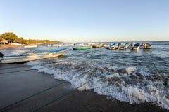 Η παραλία του Los Cobanos Στοκ Εικόνες