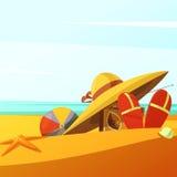 Η παραλία φορά την απεικόνιση Στοκ εικόνες με δικαίωμα ελεύθερης χρήσης
