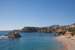 Η παραλία Amopi σε Karpathos Στοκ Φωτογραφίες