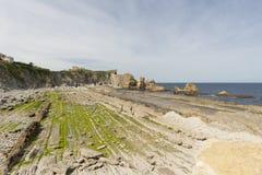 Η παραλία Arnia Στοκ εικόνα με δικαίωμα ελεύθερης χρήσης