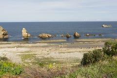 Η παραλία Arnia Στοκ Εικόνες