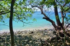 Η παραλία BLANCA Playa στη χερσόνησο Papagayo, Κόστα Ρίκα Στοκ εικόνα με δικαίωμα ελεύθερης χρήσης
