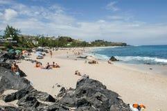 Η παραλία Boucan Canot στο νησί συγκέντρωσης Λα, Γαλλία Στοκ εικόνες με δικαίωμα ελεύθερης χρήσης