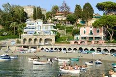 Η παραλία Levanto στη Λιγυρία, Ιταλία Στοκ φωτογραφία με δικαίωμα ελεύθερης χρήσης
