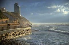 Η παραλία Netanya Στοκ φωτογραφίες με δικαίωμα ελεύθερης χρήσης