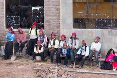 Η παραδοσιακή κοινότητα Taquile, λίμνη Titicaca, Περού Στοκ εικόνα με δικαίωμα ελεύθερης χρήσης