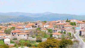 η παραδοσιακή πέτρα στεγάζει τα παλαιά τουρκικά χωριά γύρω από Assos, Canakkale, Τουρκία φιλμ μικρού μήκους