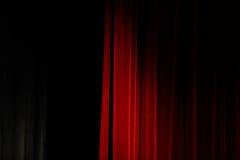 η παρουσίαση κουρτινών έννοιας κόκκινη εμφανίζει σκηνικό θέατρο Στοκ Εικόνα