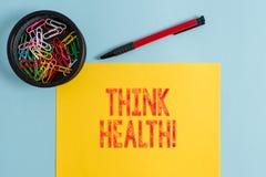 Η παρουσίαση σημαδιών κειμένων σκέφτεται την υγεία Εννοιολογική κατάσταση φωτογραφιών πλήρεις φυσικός διανοητικός και κοινωνικός  στοκ εικόνες με δικαίωμα ελεύθερης χρήσης