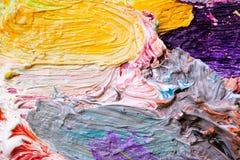 Η παλέτα ενός καλλιτέχνη Στοκ Εικόνες