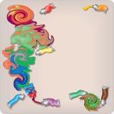 Η παλέτα του καλλιτέχνη, χρώμα που λερώνεται Στοκ Εικόνες