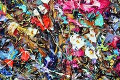 Η παλέτα χρώματος σύστασης με τα μικτά χρώματα Στοκ εικόνα με δικαίωμα ελεύθερης χρήσης