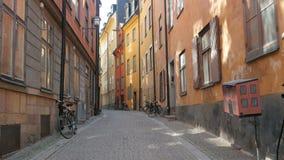 η παλαιά άποψη πόλεων της Στοκχόλμης, απόθεμα βίντεο