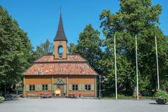 Η παλαιά αίθουσα πόλεων σε Sigtuna, Σουηδία Στοκ Φωτογραφίες