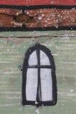 Η παλαιά εικόνα του παραθύρου στον τοίχο Στοκ φωτογραφίες με δικαίωμα ελεύθερης χρήσης