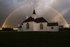 Η παλαιά εκκλησία Karasjok Στοκ Φωτογραφίες