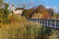 Η παλαιά μεσαιωνική πόλη Rapperswil, λίμνη Ζυρίχη, Ελβετία Στοκ Φωτογραφίες