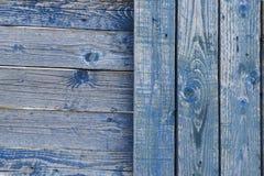 Η παλαιά μπλε ξύλινη σύσταση Στοκ Εικόνες