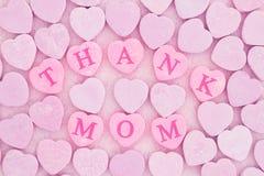 Η παλαιά μόδα ευχαριστεί mom το μήνυμα Στοκ Εικόνα