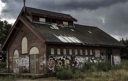 Η παλαιά περιοχή σιδηροδρόμων Στοκ εικόνες με δικαίωμα ελεύθερης χρήσης