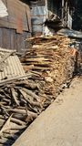 η παλαιά πυρκαγιά εργοστασίων ξύλων πωλεί Στοκ Εικόνα