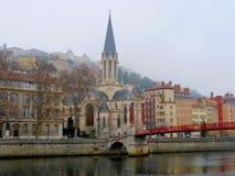 Η παλαιά πόλη της Λυών - της Γαλλίας Στοκ Εικόνες
