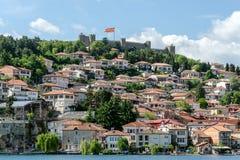Η παλαιά πόλη της Οχρίδας, της Μακεδονίας και του φρουρίου του Samuel Στοκ Φωτογραφία