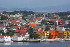 Η παλαιά πόλη του Stavanger Στοκ φωτογραφία με δικαίωμα ελεύθερης χρήσης