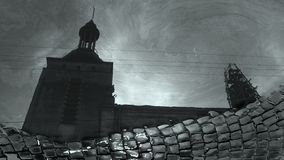 Η παλαιά πόλη Lviv που απεικονίζεται στην Ουκρανία στοκ φωτογραφίες με δικαίωμα ελεύθερης χρήσης