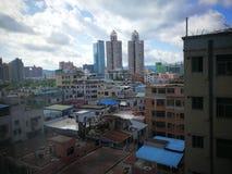 Η παλαιά πόλη Shenzhen, Κίνα, αγνοεί Στοκ Εικόνα