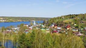 Η παλαιά ρωσική πόλη Ples στον ποταμό του Βόλγα, Ρωσία Στοκ φωτογραφία με δικαίωμα ελεύθερης χρήσης