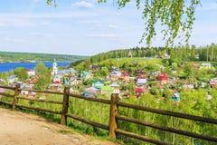 Η παλαιά ρωσική πόλη Ples στον ποταμό του Βόλγα Στοκ Φωτογραφία