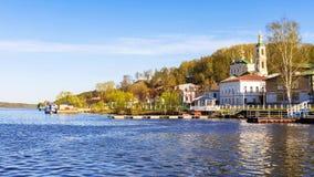Η παλαιά ρωσική πόλη Ples στον ποταμό του Βόλγα, Rossia Στοκ Εικόνες