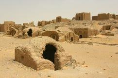 Χριστιανική κοπτική νεκρόπολη σε Al-Bagawat Στοκ φωτογραφία με δικαίωμα ελεύθερης χρήσης