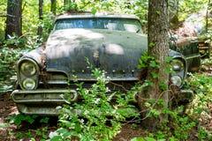 Η παλαιά Ford Λίνκολν ενάντια στο δέντρο Στοκ εικόνα με δικαίωμα ελεύθερης χρήσης