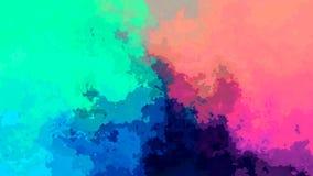Η περίληψη ζωντάνεψε λεκιασμένου τηλεοπτικός ολογραφικός κυανός βρόχων υποβάθρου άνευ ραφής, πράσινος, μπλε, πορφυρός, ροδανιλίνη απεικόνιση αποθεμάτων