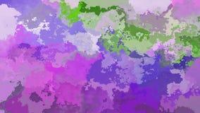 Η περίληψη ζωντάνεψε το λεκιασμένο τηλεοπτικό χαριτωμένο ρόδινο, ροδανιλίνης, ιώδες, πορφυρό και πράσινο χρώμα βρόχων υποβάθρου ά απεικόνιση αποθεμάτων